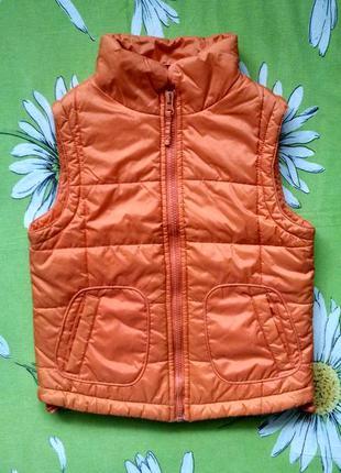 Оранжевая жилетка для девочки 4-5 лет