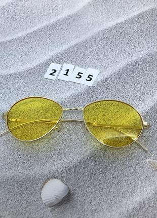 Топовые солнцезащитные очки с желтыми линзами к. 2155