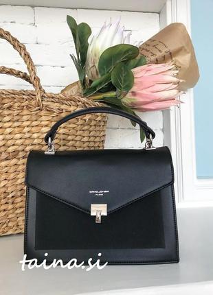Клатч david jones cm5363 black оригинал черная сумка