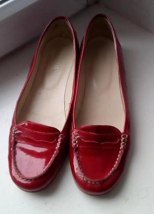 Кожаные лакированные туфли oasis. 37,5 - 38р.