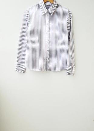 Красивая рубашка в полоску белая рубашка в полоску l 12