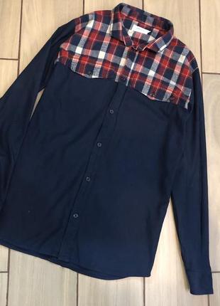 Плотная котоновая рубашка мужская