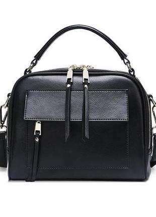 Сумка кожаная женская стильная. сумочка из натуральной кожи