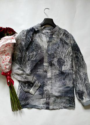 Базовая шифоновая блуза с майкой распродажа