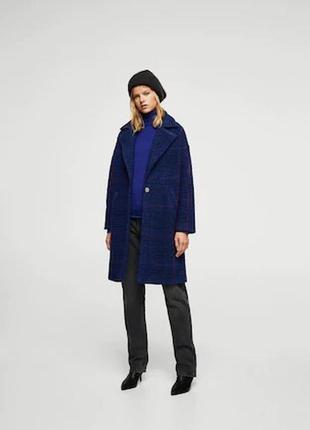 Пальто манго шикарное премиум качество тред сезона модная клет...