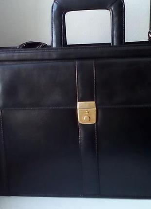 Кожаная сумка под документы. унисекс