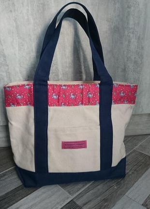 Вместительная сумка весна-лето. коттон