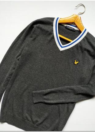 Оригинальный мужской пуловер lyle&scott