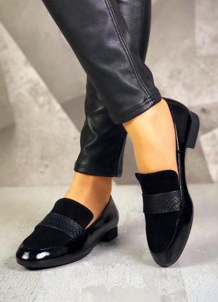 36-40. натуральная кожа/замша. базовые туфли лоферы балетки со...
