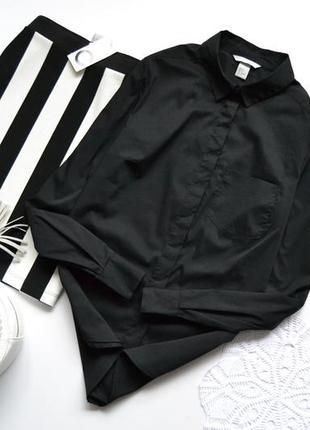 Сорочка класична базова чорного кольору h&m