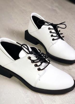 36-40. натуральная кожа. элегантные закрытые весенние туфли на...