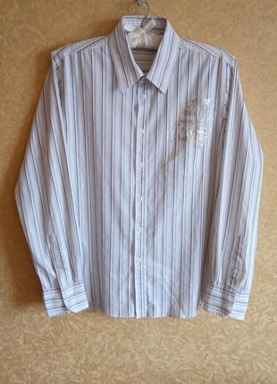 😎мужская рубашка/белая рубашка в полоску/самые низкие цены🤑🙀то...