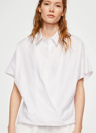 Льняная блузка mango p.l
