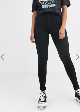 Коттоновые джинсы скини с высокой посадкой denim co размер 10/12