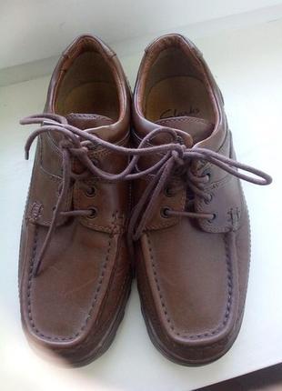 Кожаные туфли clarks. 39 - 39,5 р.распродажа
