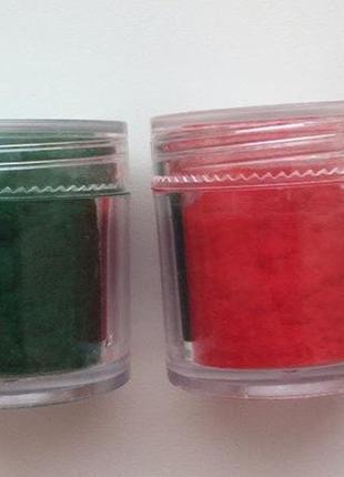 Набір бархат (кашемир) для декора ногтей.