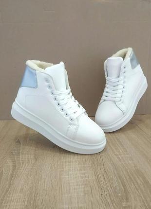 Кроссовки женские, зимняя обувь,белые кроссовки