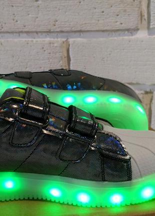 Led  кроссовки, кроссовки для подростка, обувь