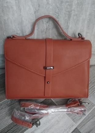 Стильная сумка с длинным ремнем even&odd. новая