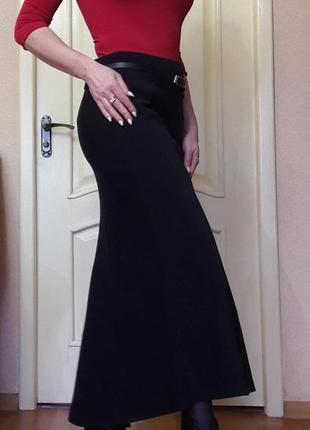 Длинная юбка под замш удлинена по спинке м