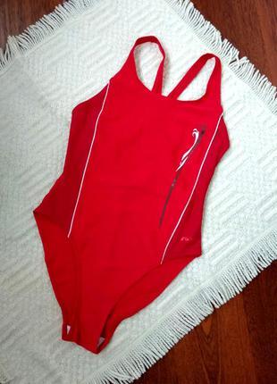 42-44р. красный сплошной купальник для плавания, бассейна ras
