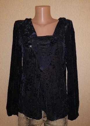 🔥🔥🔥новая женская кофта, блузка с набивным бархатным, велюровым...