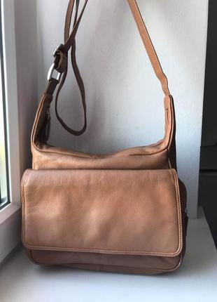 Кожаная сумка с длинным ремнем nova