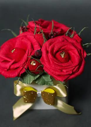 Букет из конфет. Букет з цукерок арт. А4009 . Розы