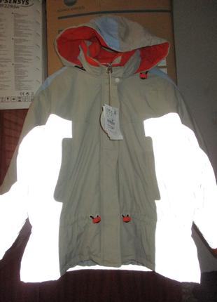 Рефлективная куртка Pull & Bear с подстегом