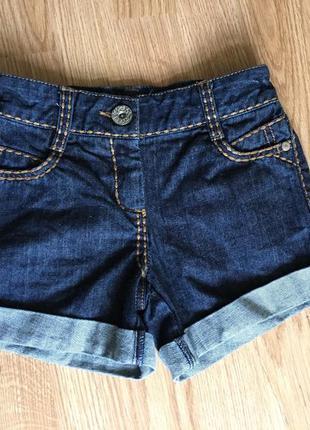 Красивые джинсовые шортики на девочку 7лет next
