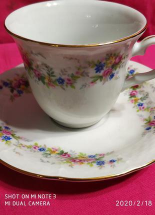 Чашки+блюдечки кофейные Чехия