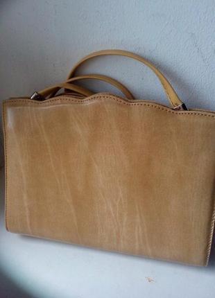 Кожаная сумочка - клатч. италия.
