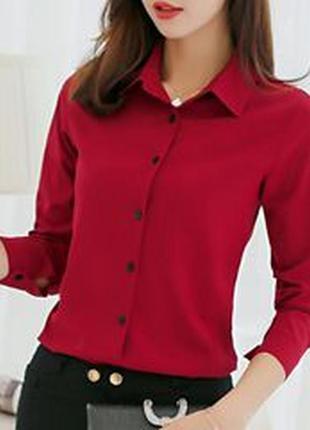 Бордовая рубашка,блузка,хлопок от zero