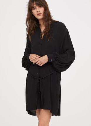 Очень красивое черное платье рубашка от h&m