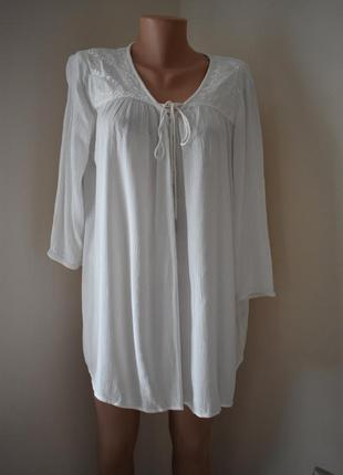 Кремовая блуза с вышивкой большого размера f&f