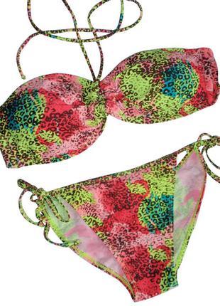 Яркий купальник бикини бандо на завязках бренд koalaroo - испания