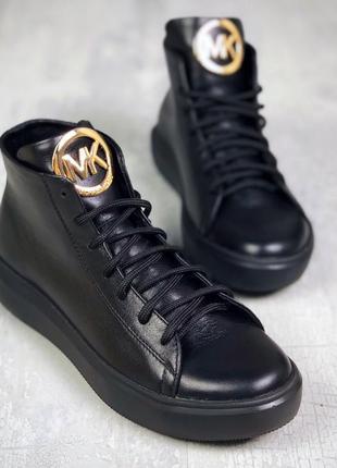 36-41. натуральная кожа. высокие базовые кеды деми ботинки на ...