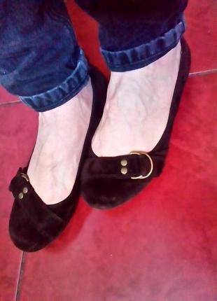 Замшевые туфли tu. 37-37,5р. распродажа!