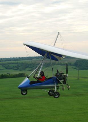 Обработка полей мотодельтапланом – авиахимработы
