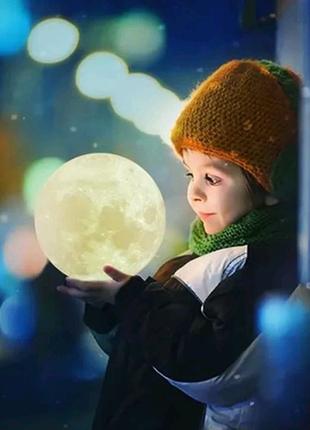 """3D светильник-ночник """" Луна"""""""