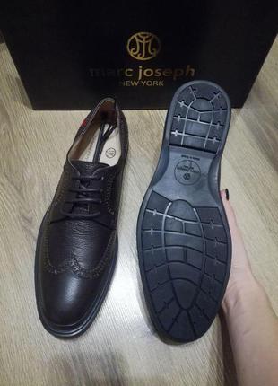 Мужские кожаные туфли marc joseph new york. оригинал из сша.