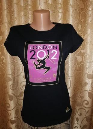 ✨✨✨стильная черная спортивная женская футболка adidas london 2...