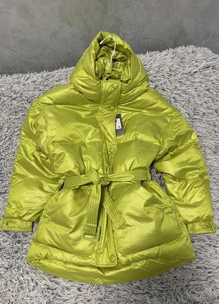 Куртка пуховик оверсайз в стиле ienki ienki