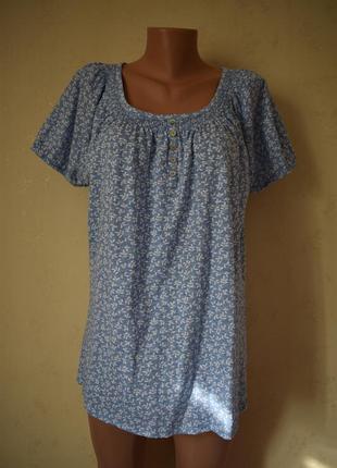 Трикотажная блуза с принтом