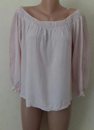 Нежная блуза с кружевом большого размера f&f