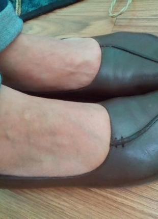 Кожаные стильные туфли hush puppies. 37 р.