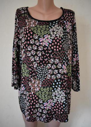 Трикотажная блуза с принтом tu
