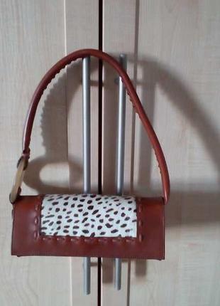 Кожаная сумочка клатч.