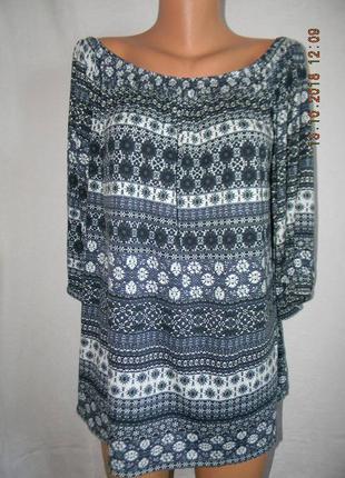 Трикотажная блуза большого размера f&f