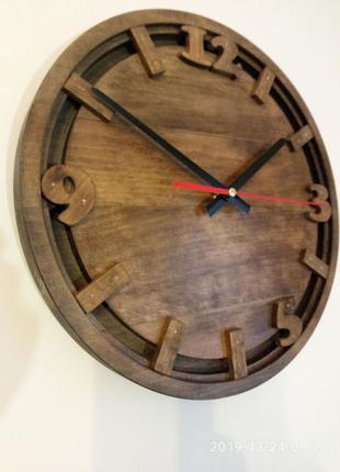 Настенные часы из натурального дерева Ретро стиль 2
